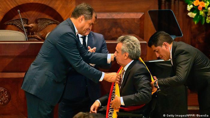 Ecuador Sozialist Lenín Moreno tritt Präsidentenamt aan (Getty Images/AFP/R. Buendia)