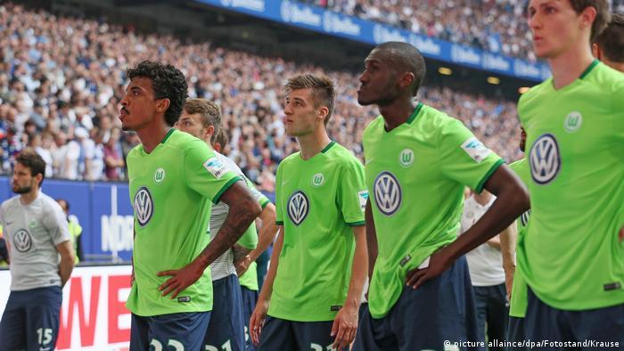 Deutschland enttäuschte Wolfsburg-Spieler (picture allaince/dpa/Fotostand/Krause)