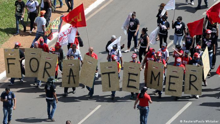 Brasilien Proteste Demonstration Temer