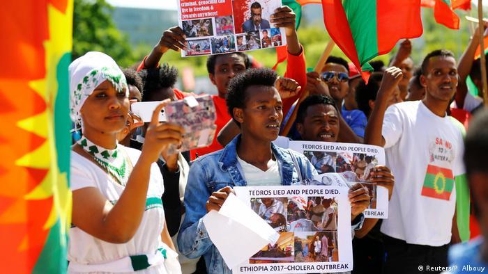 اعتراض شهروندان اتیوپی در تبعید به انتخاب تدروس برای دبیرکلی سازمان جهانی بهداشت