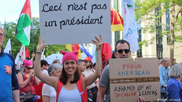 Belgien Trump not welcome Marsch durch Brüssel | Das ist kein Präsident