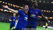 Ajax v Manchester United - UEFA Europa League Final - Friends Arena. Manchester United's Henrikh Mkhitaryan celebrates scoring his side's second goal of the game with team mate Manchester United's Paul Pogba during the UEFA Europa League Final in Stockholm URN:31439111 |