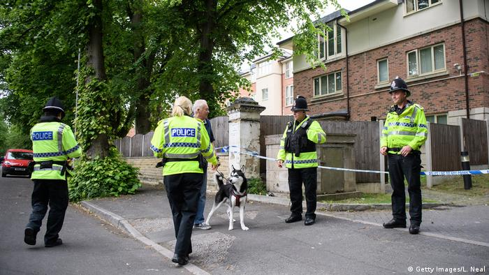 Großbritannien Manchester - Polizeiaktivität nach Terroranschlag bei Konzert (Getty Images/L. Neal)