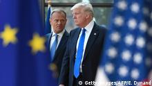 Belgien Donald Tusk und Donald Trump