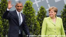 Barack Obama and Angela Merkel