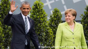 Deutschland 36. Evangelischer Kirchentag in Berlin - Barack Obama und Angela Merkel
