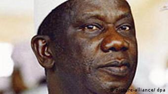 President Lansana Conte of Guinea before his death