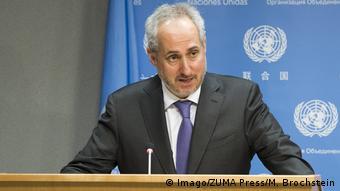 USA Sprecher des UN-Generalsekretärs Stéphane Dujarric in New York