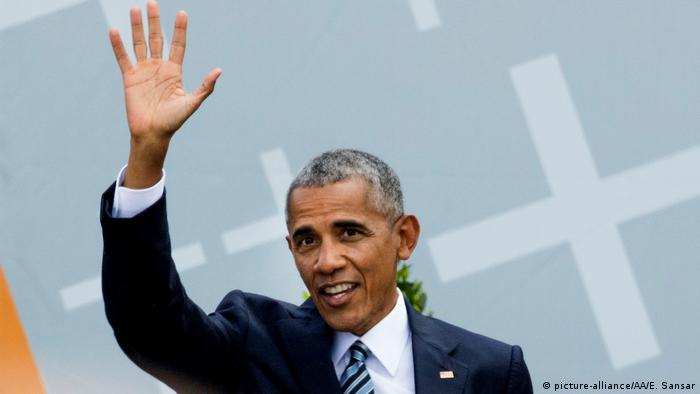 Deutschland 36. Evangelischer Kirchentag in Berlin - Barack Obama (picture-alliance/AP Photo/G. Breloer)