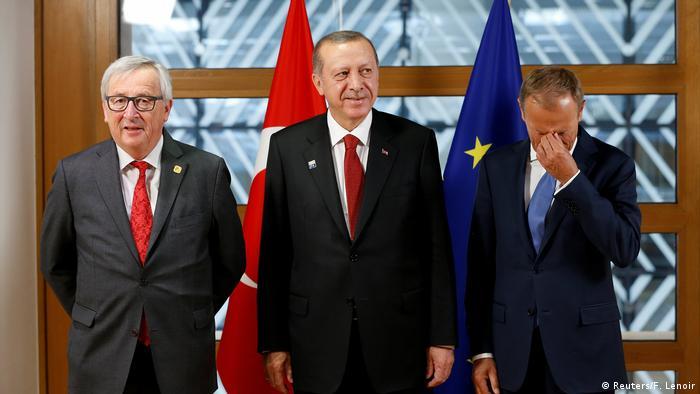 Belgien EU-Türkei: Erdogan trifft Tusk und Juncker (Reuters/F. Lenoir)