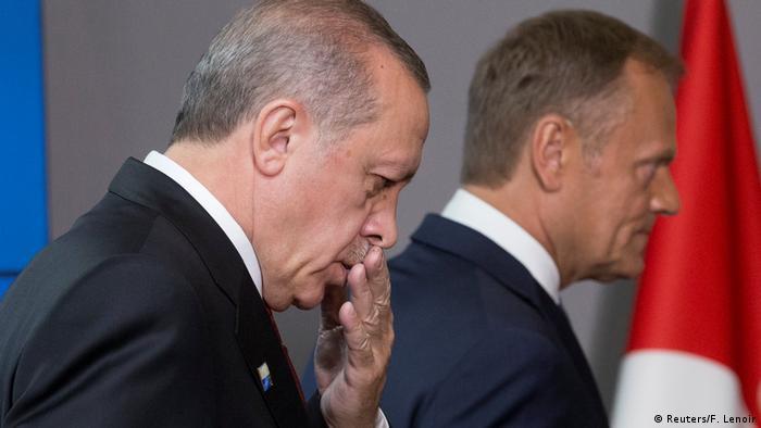 Belgien Tusk empfängt Erdogan in Brüssel (Reuters/F. Lenoir)