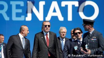 Der türkische Präsident Recep Tayyip Erdogan kommt am NATO-Gipfel an