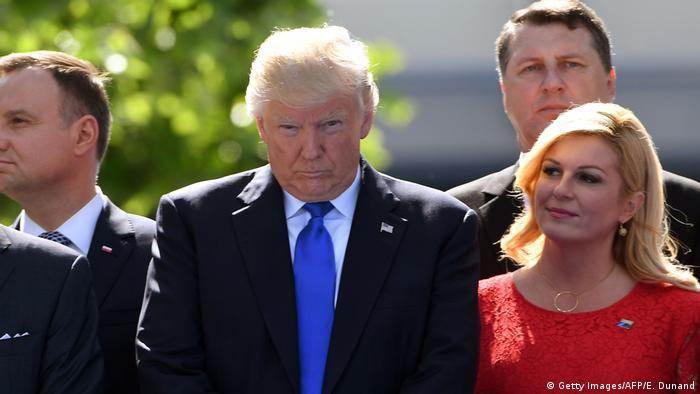 Belgien Trump beim NATO-Gipfel (Getty Images/AFP/E. Dunand)