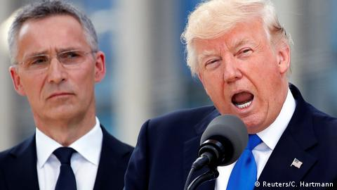 US President Donald Trump and NATO Secretary General Jens Stoltenberg (Reuters/C. Hartmann)