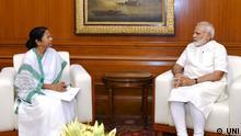 NEW DELHI, MAY 25 (UNI):- West Bengal Chief Minister Mamata Banerjee calling on the Prime Minister Narendra Modi, in New Delhi on Thursday. UNI PHOTO-113U