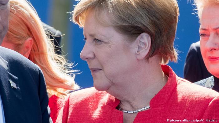 Belgien NATO-Gipfel | Angela Merkel (picture alliance/dpa/K. Nietfeld)