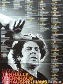 Η αφίσα της Tonhalle με τις συναυλίες για τον Μάιο του 2017. (DW/S. Georgakopoulos)