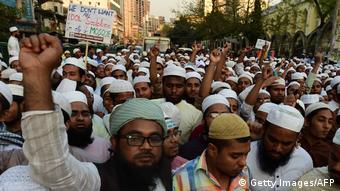 Islamisten Bangladesch Protest Statue Justiz Gerechtigkeit