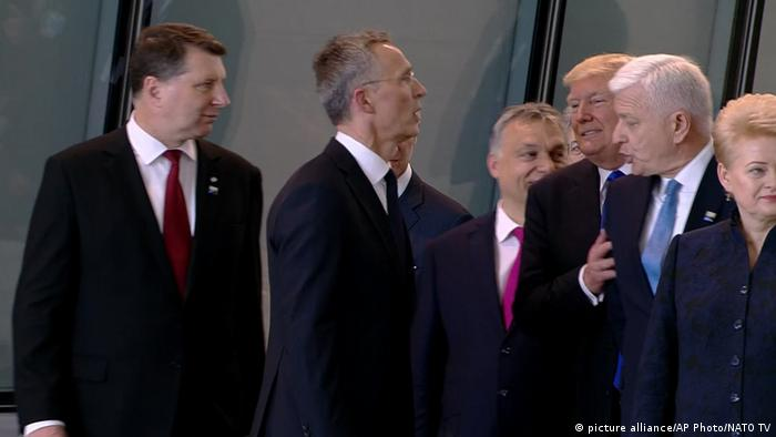 Belgien NATO Gipfel Dusko Markovic Donald Trump (picture alliance/AP Photo/NATO TV)