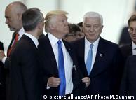 Дональд Трамп на саммите НАТО в Брюсселе 25 мая