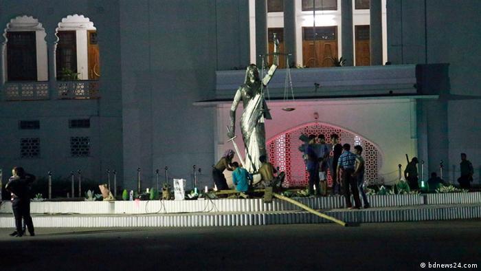 Bangladesch Statue Lady Justice (bdnews24.com)