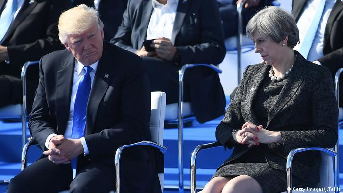 NATO Donald Trump Belgien Mimik