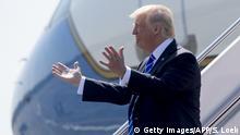 USA Trump Flugzeug Ankunft Symbolbild