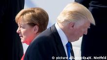 Trump and Merkel (picture alliance/dpa/K. Nietfeld)