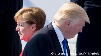 Belgien Nato-Gipfel | Trump und Merkel