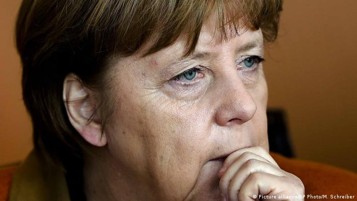 Trump Merkel (Picture alliance/AP Photo/M. Schreiber)