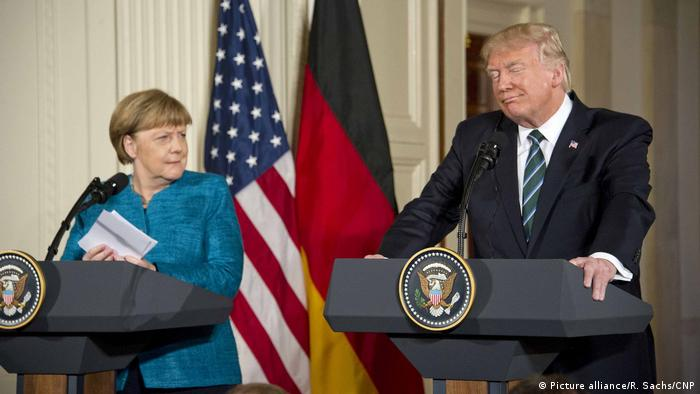Donald Trump und Angela Merkel (Picture alliance/R. Sachs/CNP)