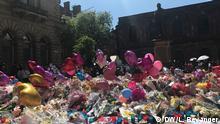 UK Manchester nach dem Anschlag | Blumen am St Anne's - Platz