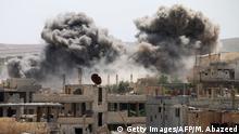 Syrien Luftangriff in Daraa