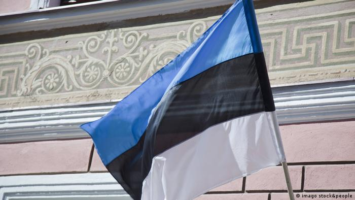 Fahne von Estland, flag of estonia