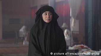 Η ηθοποιός Ασίλ Ομράν στη διάρκεια των γυρισμάτων