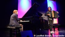 Jazzfest Bonn 2017 Rita Marcotull (Piano) und Luciano Biondini (Akkordeon)