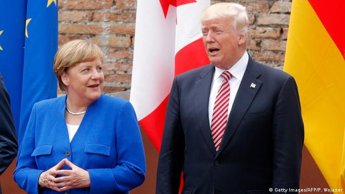 G7 Treffen in Taormina Sizilien Italien Merkel, Trump (Getty Images/AFP/P. Wojazer)