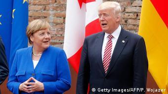 Θα βρούν δίαυλο επικοινωνίας Μέρκελ και Τραμπ; (Getty Images/AFP/P. Wojazer)