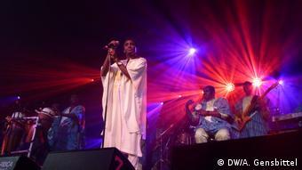 Wally Seck aus dem Senegal bei seinem Auftritt in Würzurg beim 29. Africa Festival