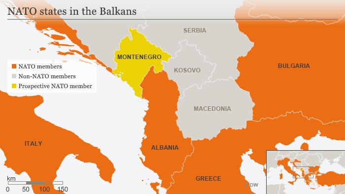 Karte NATO Saaten Balkan ENG
