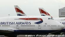 SYMBOLBILD IT-Probleme British Airways streicht alle Flüge in London (picture alliance/AP Photo/F. Augstein)