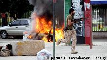 Libyen Straßenkämpfe zwischen Armee und Ansar al-Scharia Milizen in Benghasi