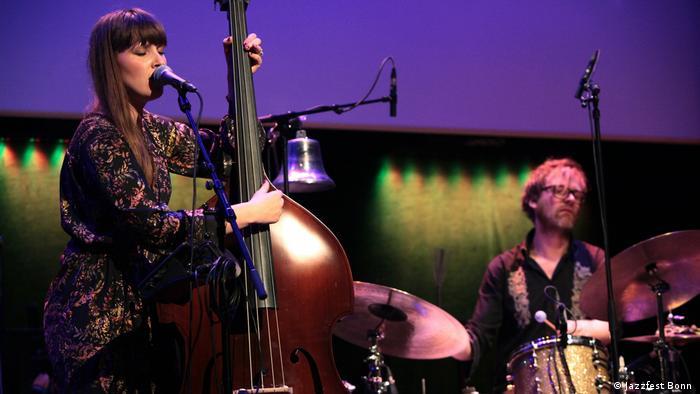 Die Norwegische Bassistin und Sängerin Ellen Andrea Wang beim Jazzfest Bonn (Foto: Jazzfest Bonn )