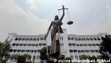 Bangladesch Wiederaustellung umstrittener Justitia-Skulptur
