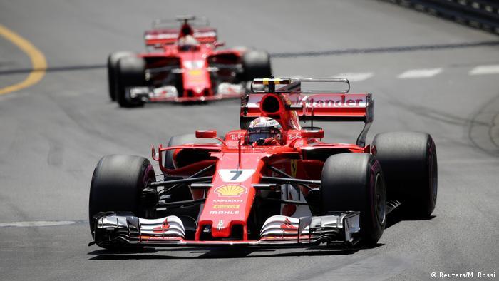 Formel 1 Monaco Grand Prix 2017 | Kimi Raikkonen vor Sebastian Vettel (Reuters/M. Rossi)