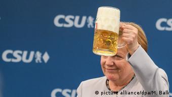 Канцлер на предвыборном митинге в Мюнхене