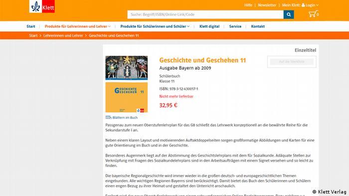 Screenshot Klett Verlag - Geschichte und Geschehen (Klett Verlag)