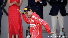 Formel 1 Monaco Podium Vettel