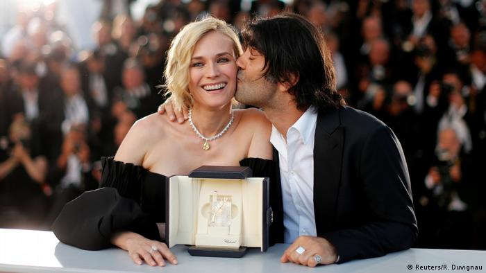 Diane Kruger and Fatih Akin at the 70th Cannes Film Festival (Reuters/R. Duvignau)