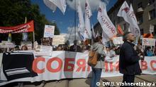 Moskau Demo gegen Häuserabriss Vavilova Straße